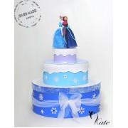 Торта от картон Frozen /  Ana